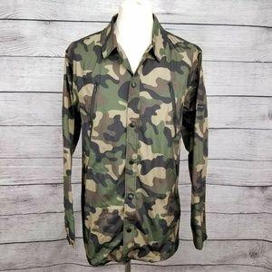 NEW Men's King Apparel Military Mac Camo Jacket L